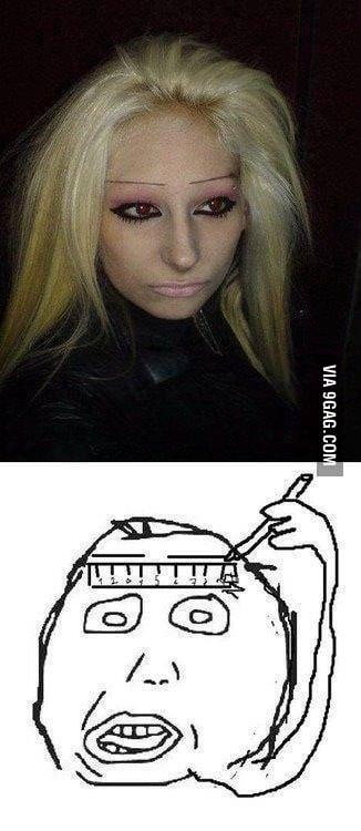 Just ruler eye brows