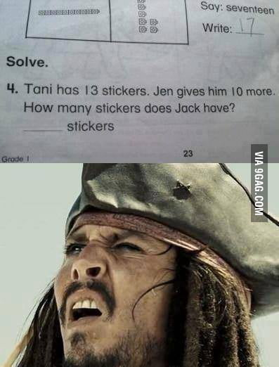 How many stickers does Jack have?