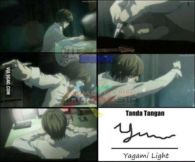 Yagami light signature