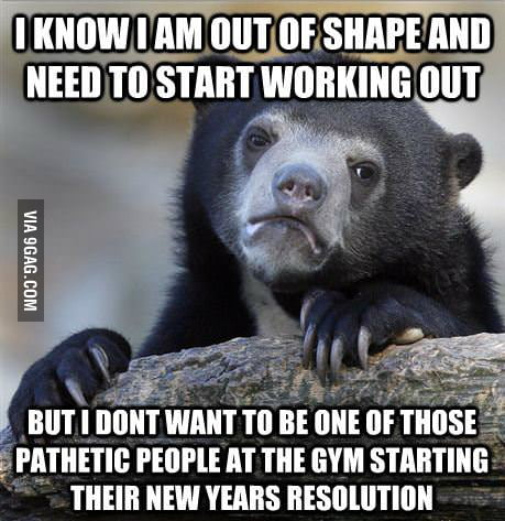 Confession Bear: I need to workout