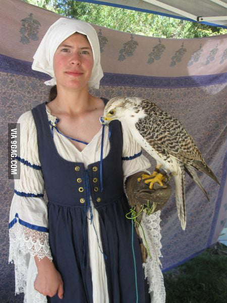 This falcon must be a guy!