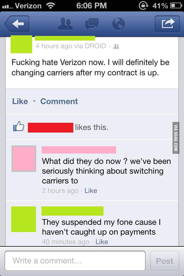 Douchebag Verizon!