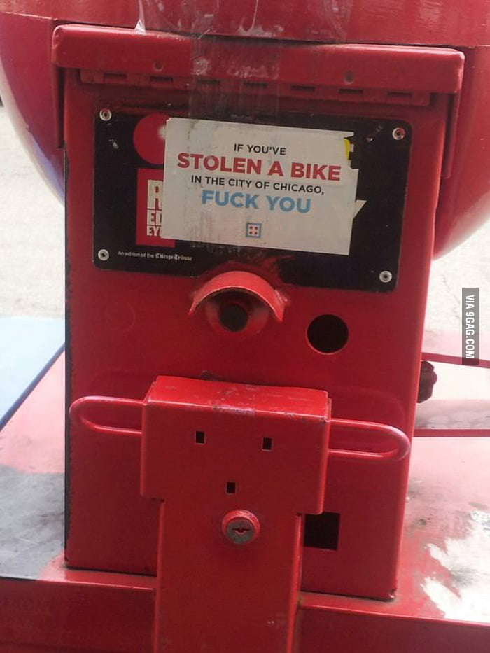 If you've stolen a bike...