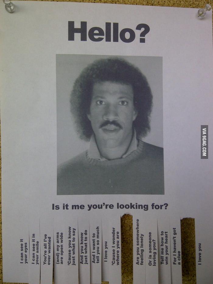 Met Lionel Richie at school today