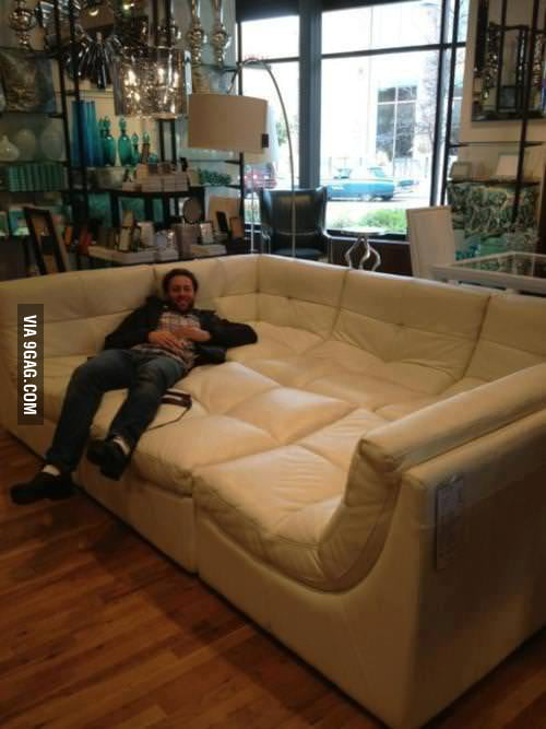 This couch is the boss.