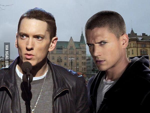 Best faceswap - Wentworth Miller & Eminem - 9GAG