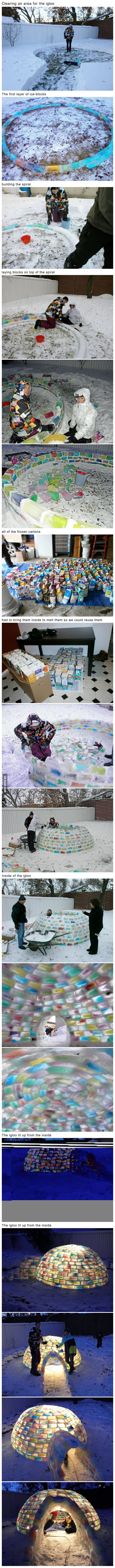 Awesome Igloo building