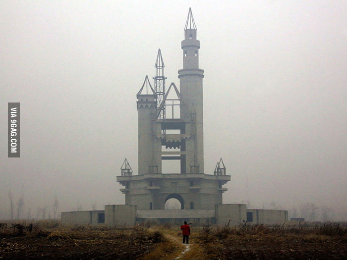 The abandoned fake Disneyland in China.