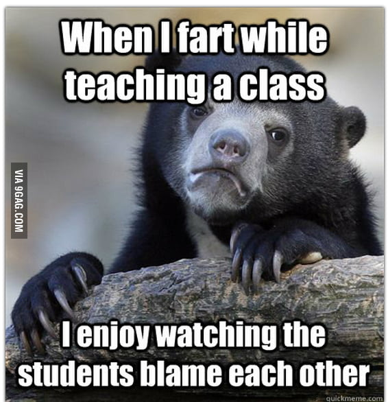 As a teacher...