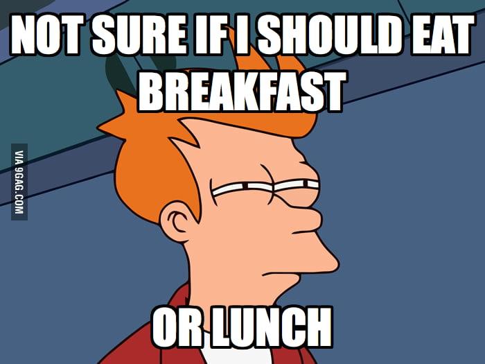 When I wake up at noon.