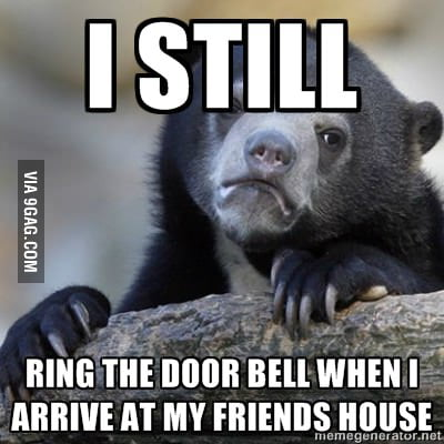 For those who are shy to ring the door bell...