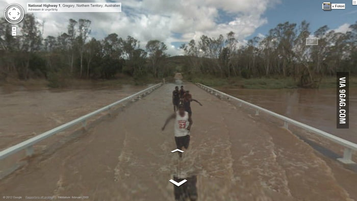 Google Streetview in Australia..