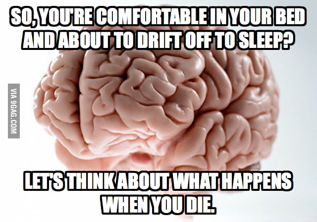 What my Scumbag Brain does when I sleep.