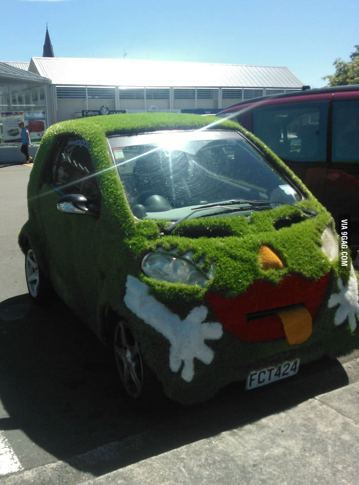 I saw this car coming out of the supermarket today.