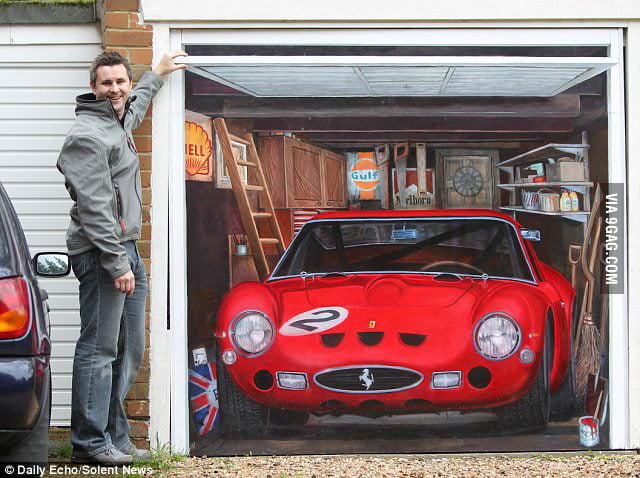 He couldn't afford a Ferrari 250 GTO, so he painted one.