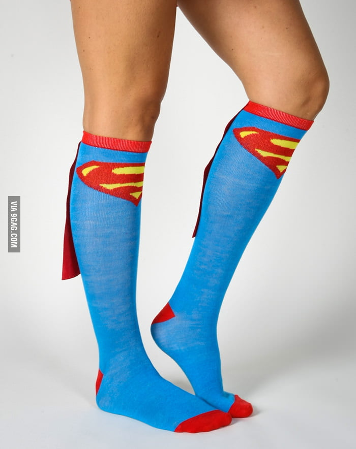 Superman socks with capes.