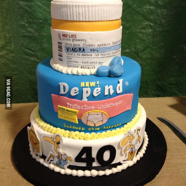 Awesome cake for 40th birthday!