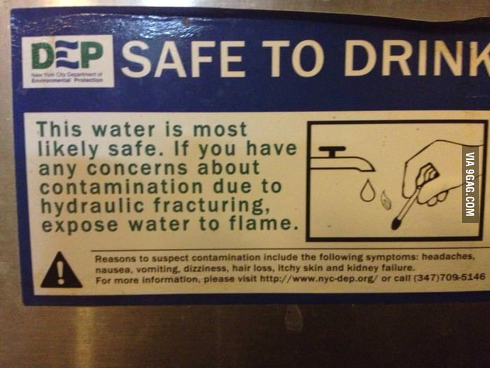"The water is ""most likely"" safe to drink."