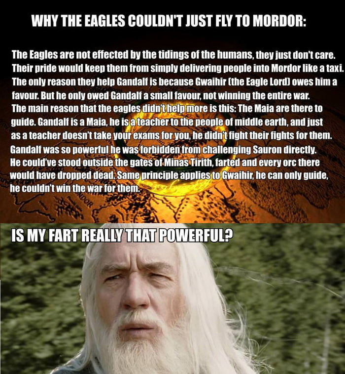 Why the Eagles Couldn't just fly to Mordor
