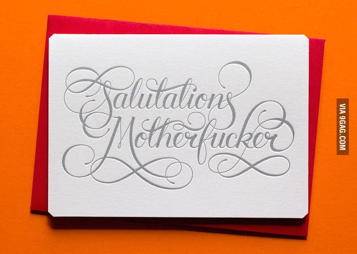 A classy card.