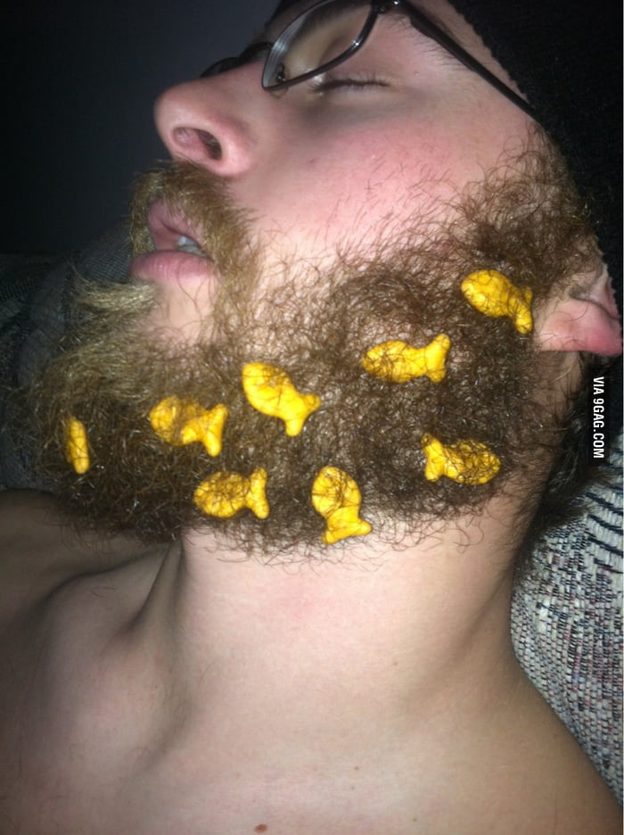 Goldfish swims at the beard sea.