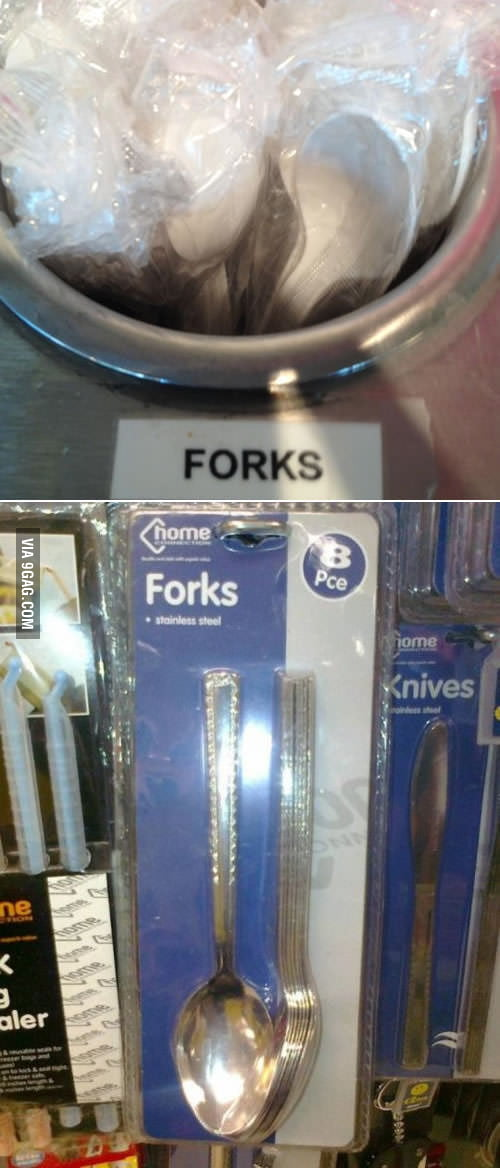 I think spoons really look like forks.