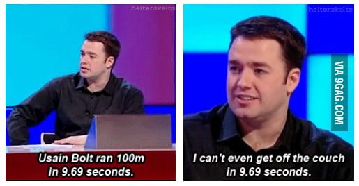 9.69 seconds.