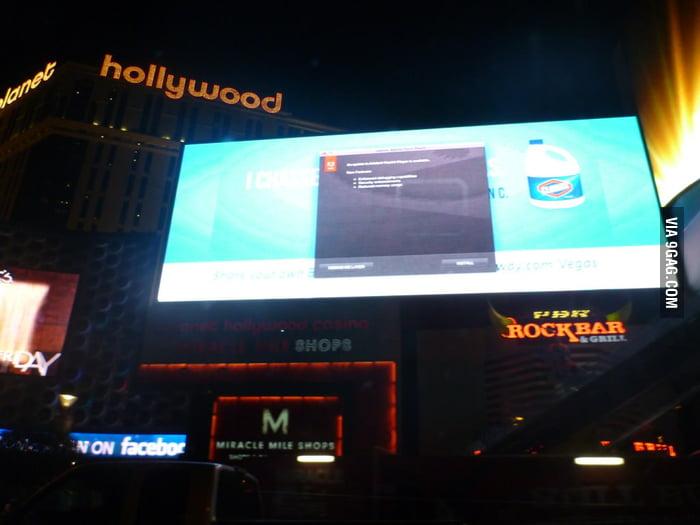 Even the billboards in Vegas need Adobe updates.