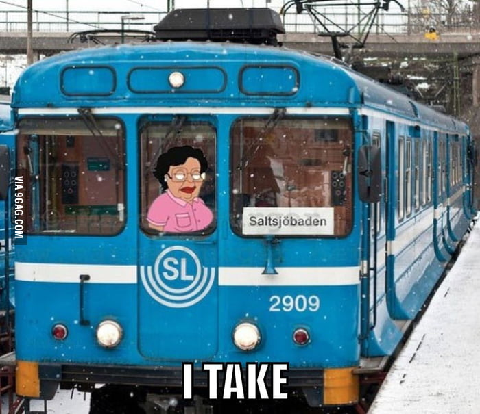 Woman stole a train in Stockholm..
