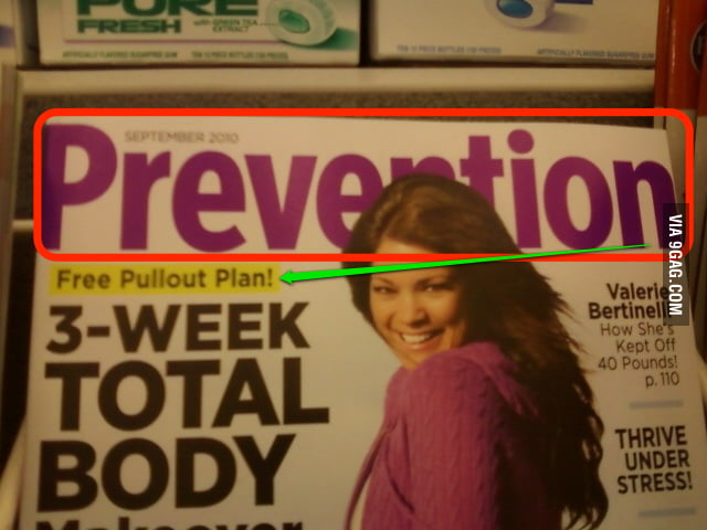 Prevention? Nailed it!