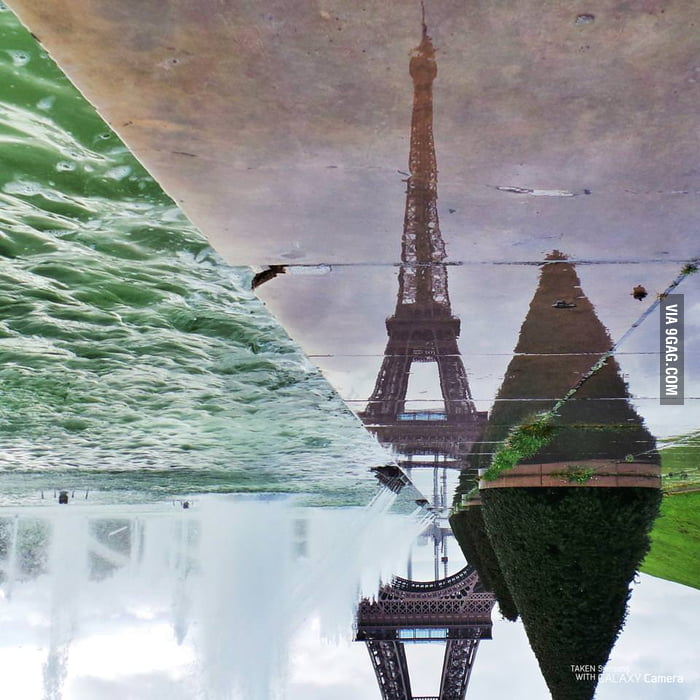 The Eiffel Tower from a different angle.