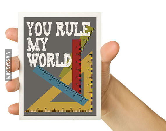 Rule with the ruler...