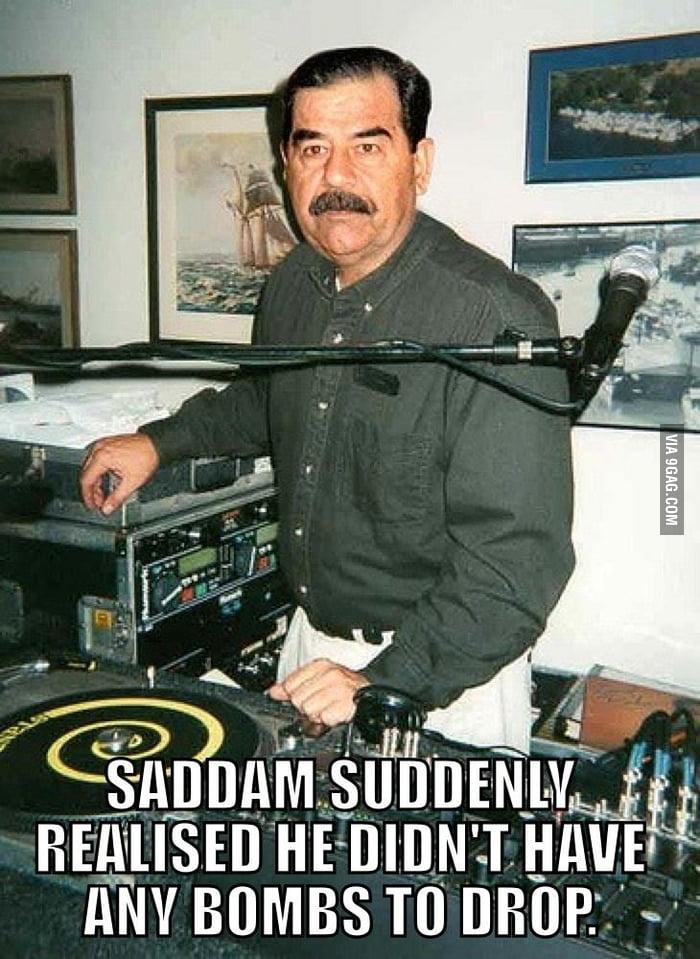 Hussein's DJ crisis