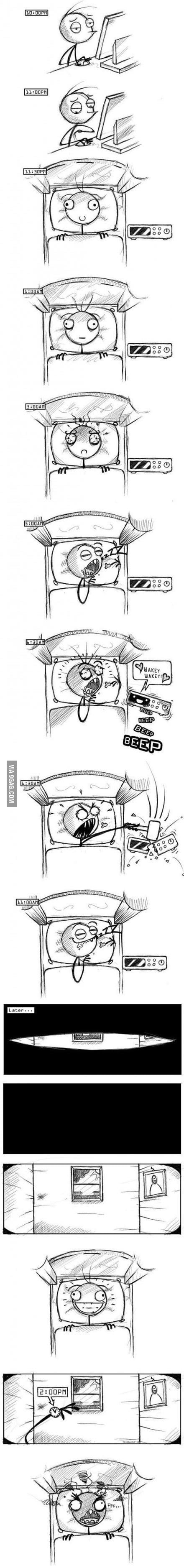 Typical Sleeping Routine…