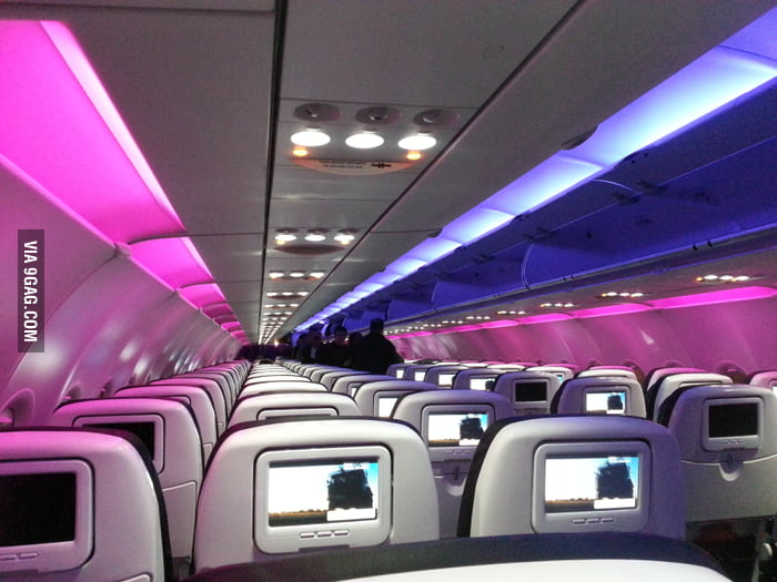 First time flying on Virgin America, I feel they need a DJ.