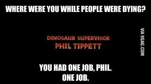 Worst member of the Jurassic Park crew