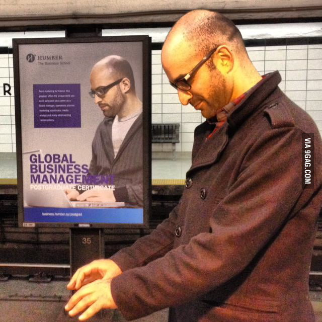 My friend found his doppelganger in the subway last night.
