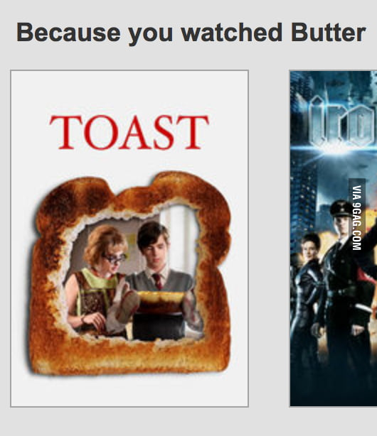 The Netflix recommendation engine became sentient today.