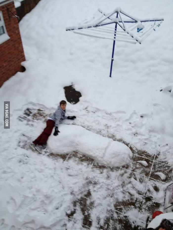 How kids play with snow these days.