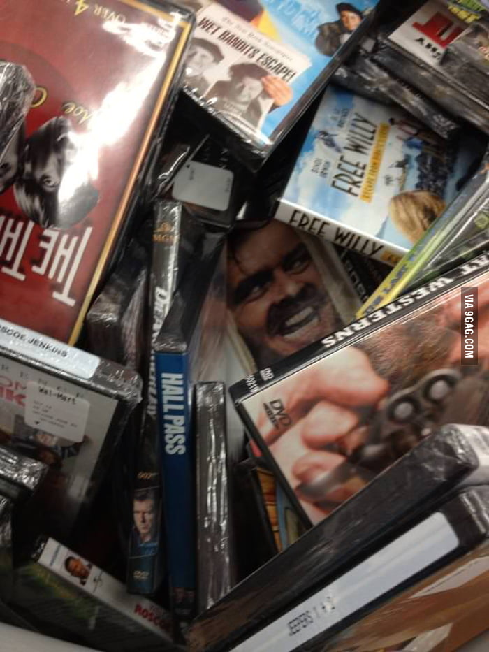 In Walmart movie bin when suddenly...