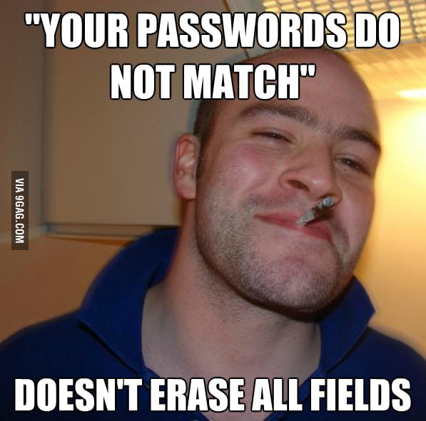 Good Guy Website during new user registration.
