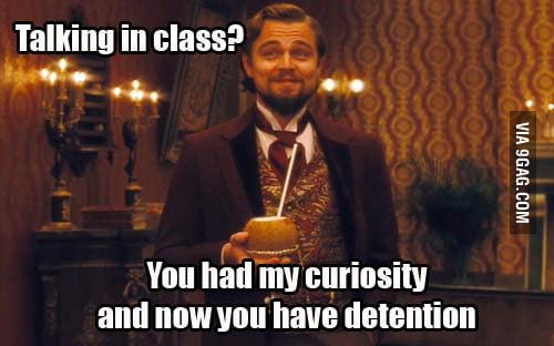 Detention from the teacher