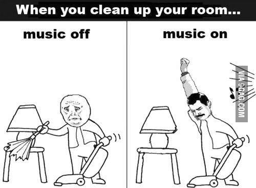 When you clean up your room...