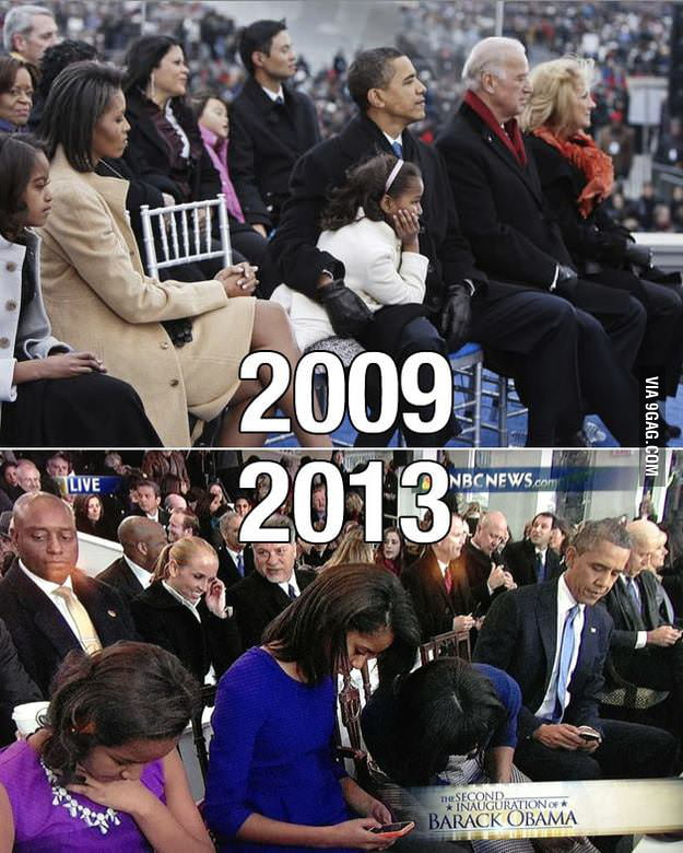 How smartphone has ruined the world: 2009 vs 2013