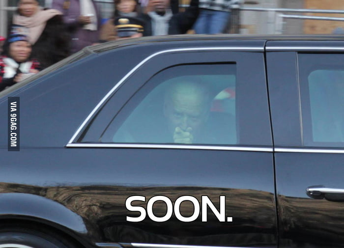 A picture of Joe Biden at the inaugural parade.