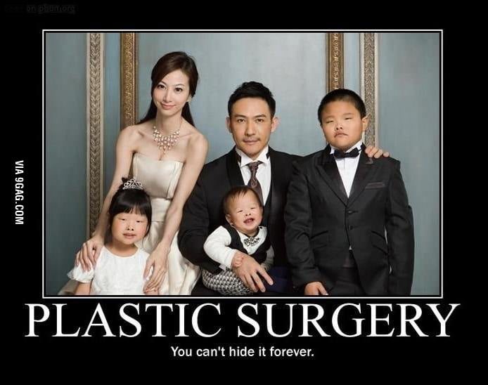 Plastic surgery is not genetic