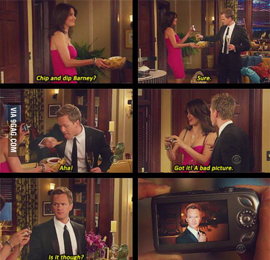 Barney being awesome.