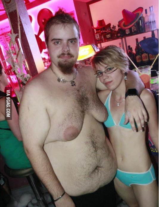 The awkward moment when your boyfriend's boobs are bigger