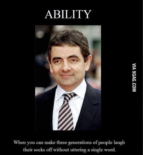 Only Mr. Bean..