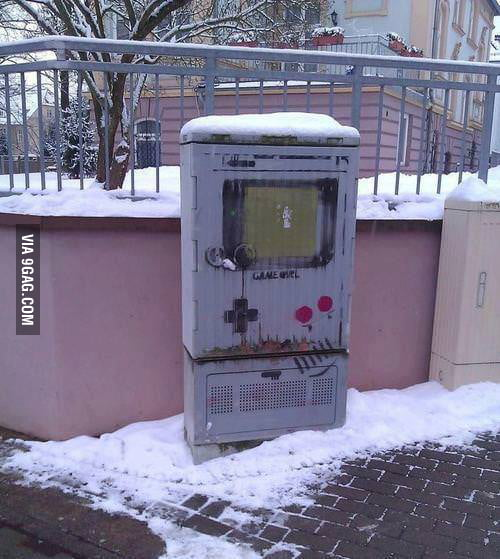 I saw a large Gameboy on the street